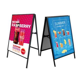 A형 입간판 AP805 A1 단면 철제입간판 포스터거치대 핸드폰매장 카페입간판 포스터스탠드