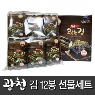 최고집 광천김 명절선물세트 / 12봉 / 16개 1박스