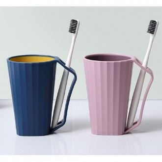 깨지지않는 파스텔 듀얼컬러 양치컵 칫솔꽂이 개인양치컵