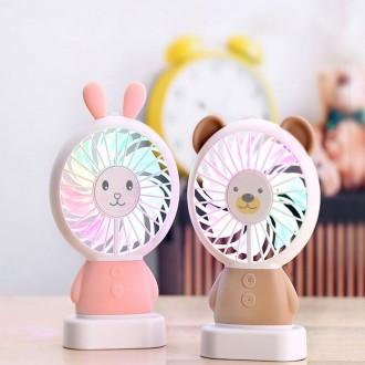 LED 캐릭터 모찌모찌 핸드 휴대용선풍기