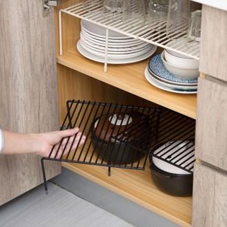 다용도선반 주방선반 그릇 접시정리대 한칸형 길이조절 확장형