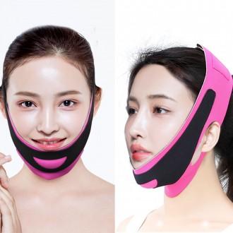 페이스 리프팅 밴드 압박 얼굴 마스크 턱살 이중턱 턱선만들기 땡김이 마사지