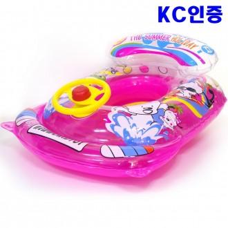 국산 자동차 보행기튜브 분홍 유아 아기 물놀이 튜브