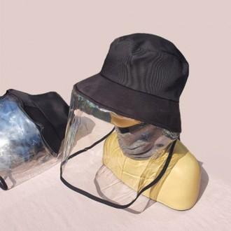 방역모자 비닐모자 안면보호모자 보호모자 PVC+모자