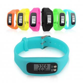 [도매셀럽]12컬러 만보기시계/디지털 만보기 만보계 만보기팔찌 손목만보계 실리콘 칼로리시계