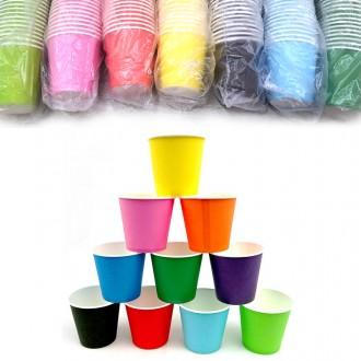 컬러종이컵 칼라종이컵 단색 혼합 50개입 미술놀이