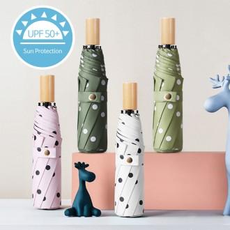 UV 땡땡이 3단우산 자외선차단 여성 암막 우산 양산