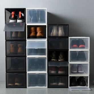 더리빙 프리미엄 신발보관함 화이트/블랙