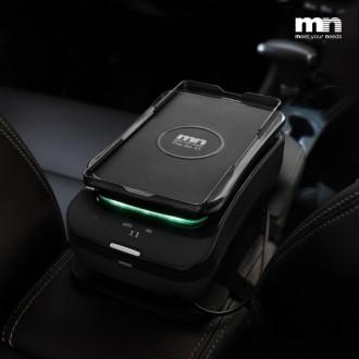엠엔 헤파필터 차량용 공기청정기 스마트폰 무선충전 방향제 실내 아답터 포함