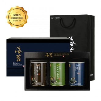 명품 광천 슈퍼푸드 브라질너트 아보카도유 블루베리 캔김 선물세트 3P (쇼핑백포함)