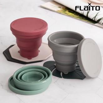 국산 재활용 실리콘 휴대용 미니 접이식 등산 캠핑 컵 210ml