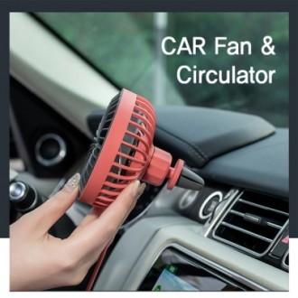 차량용 써큘레이터 송풍기선풍기 LED무드조명 차량용선풍기