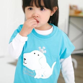 유아동 반팔 캐릭터 티셔츠 퍼피캐릭/어린이날/단체티셔츠/단체복/어린이집