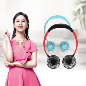 목선풍기 휴대용 미니선풍기 넥밴드 목걸이 선풍기 LED KC 대량구매문의