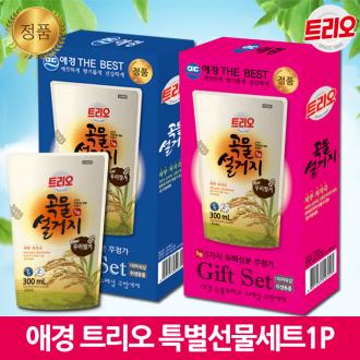 [2021제작형] 애경트리오[선물용] 대한민국 1등주방세제ㅣ최고급코팅박스+홍보스티커무료
