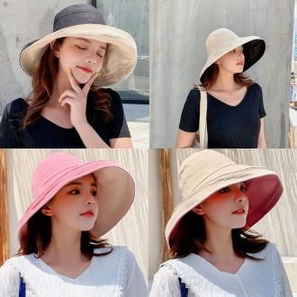 은창]리버서블 양면 벙거지 모자 여름 아이스 자외선 차단 여성 여름모자 성인 선캡 썬캡 휴가 워머 여자