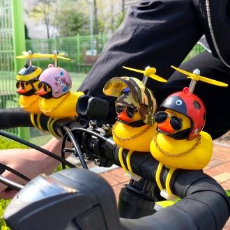 자전거용 러버덕 오리 장식 악세사리 헬멧 벨 라이트