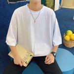 남자티셔츠 남성반팔티 라운드넥 무지티셔츠 7부 INSUM92