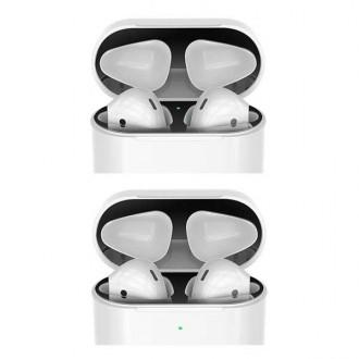 에어팟 18K도금 철가루 방지 스티커 (1/2세대 유선 무선)