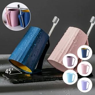 깨지지않는 파스텔 듀얼컬러 거꾸로양치컵 5color 칫솔꽂이 개인양치컵