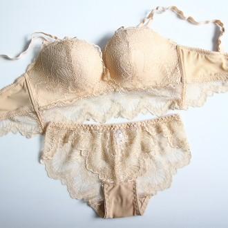 별난여우 도매 노와이어 레이스 왕뽕 브라 팬티 세트 여성속옷 4004 set