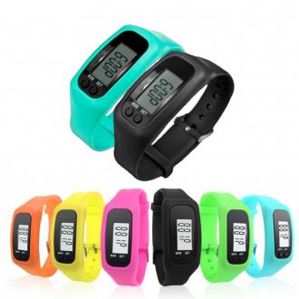 [퀵도매] 만보기시계 12컬러/디지털 만보기 만보계 만보기팔찌 손목만보계 실리콘 칼로리시계