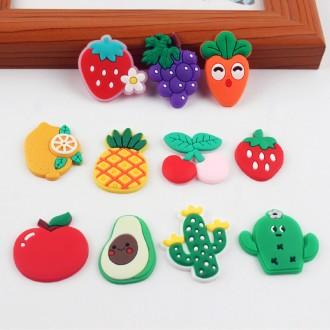 과일 야채 고무파츠 / 캐릭터 지비츠재료 슬라임 만들기 부속 데코덴 팔찌 머리핀
