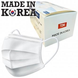 [국내생산] 독도 3중 일회용 부직포 마스크 1매
