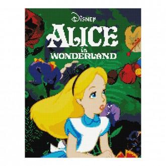 DIY 보석십자수 디즈니 시리즈 숲속 앨리스 40X50