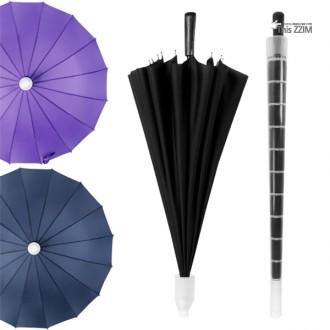 [이거찜] 물젖은 우산은 가라 16살 캡장우산/태풍에도 끄떡없는 16살 장우산