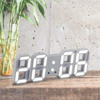 [후니케이스] 3D LED 벽시계 탁상시계겸용 (24cm) KC인증 인테리어 무소음 어댑터 미포함