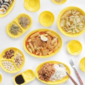 추억의 멜라민 식기 병아리 분식그릇 15종 택1 떡볶이접시(마이너스옵션)