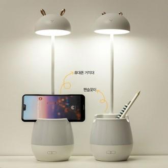 머쉬룸 멀티램프 거치대 연필꽂이겸용 LED 스탠드 USB