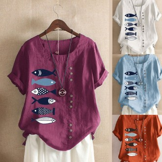 [CESS] 4850 피쉬린넨 티셔츠 4색상