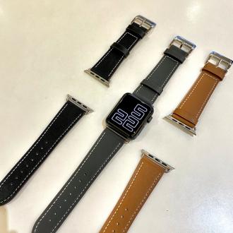 애플워치 가죽 스트랩 스티치 시계줄 줄질 커플 기본