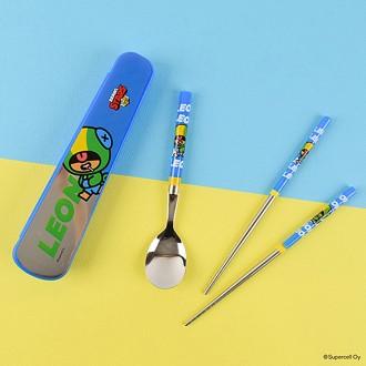 브롤스타즈 공간효율 진공수저케이스세트(레온)-블루