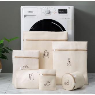 세탁망 이중세탁망 속옷세탁망 무형광세탁망 6종 세트
