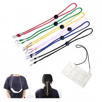 당일출고(개별포장)길이조절 가능 마스크 스트랩 목걸이 마스크분실방지 마스크줄 마스크 목걸이 랜덤색상