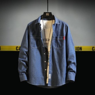 남성 캐주얼 데님 셔츠 청남방 자켓 간절기 WN1995