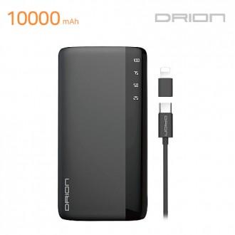[후니케이스] 드리온 LED보조배터리 10000mAh (5PIN Cable + C-TYPE & 8 PIN Gender)