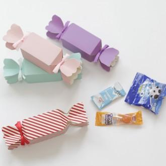 (리본포함) 사탕 상자 선물 포장지 4컬러