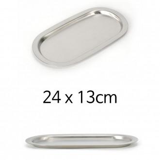 STL 미니 스텐 쟁반 타원접시 24x13cm 1p
