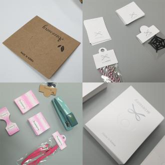 포장접지 모음 판매 크래프트 화이트 핑크 행거택 전시 상품전시 상품포장 선물포장 전시용
