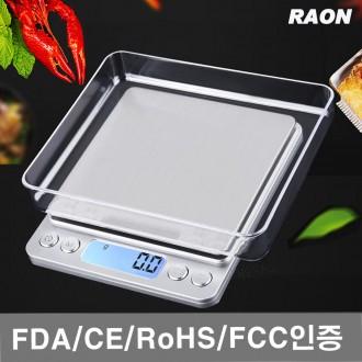 라온 I2000 주방저울 전자저울 0.1g 1Kg 계량/음식/이유식