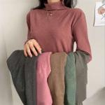 은창]히트 보온 목폴라 여성 티셔츠 가을 겨울 데일리 쫀쫀한 베이직 터틀넥 반 상의 긴팔 여성용 슬림