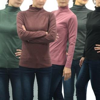 [투엘]겨울신상 무지 목폴라티셔츠