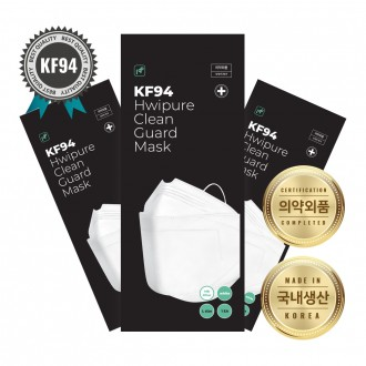 당일배송 식약처인증 클린가드 KF94 대형 개별포장 일회용마스크