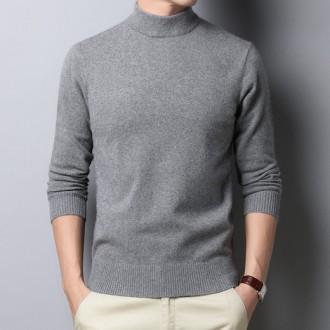 남성 가을 겨울 반폴라 티셔츠 니트스웨터 슬림핏