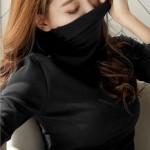 은창]하이넥 보온 심플 목폴라 티셔츠 여성 겨울 보온 사무실 실내 이너 슬림핏 기모 레깅스 가을 폴라 상