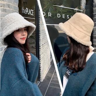 은창]뽀글이 양면 리버서블 벙거지 모자 보온 가을 겨울 여성 여성 벙거지 모자 히트 선물 단체 사은품 햇